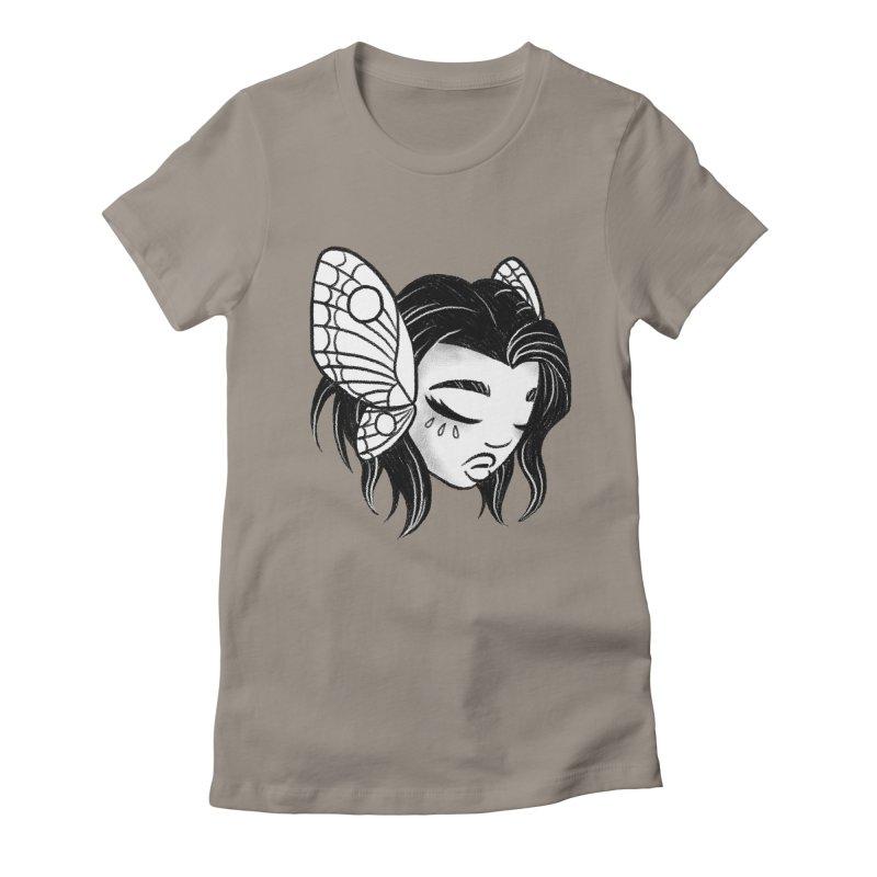 Mothgirl Women's Fitted T-Shirt by ImogenSartain's Artist Shop