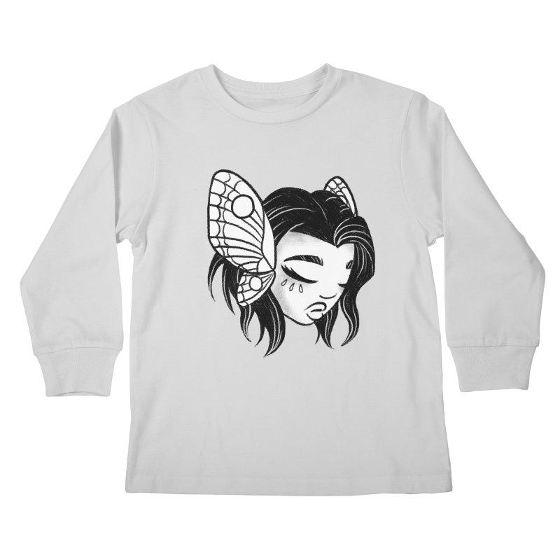 Mothgirl Kids Longsleeve T-Shirt by ImogenSartain's Artist Shop