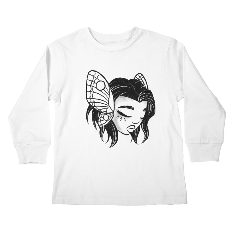 Mothgirl Kids Longsleeve T-Shirt by ImogenSartain's Artist Shop