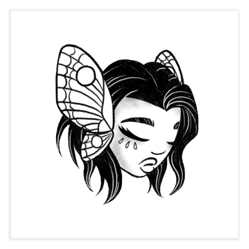 Mothgirl Home Fine Art Print by ImogenSartain's Artist Shop