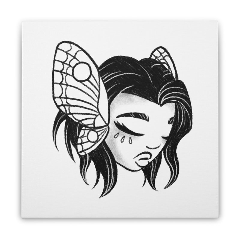 Mothgirl Home Stretched Canvas by ImogenSartain's Artist Shop