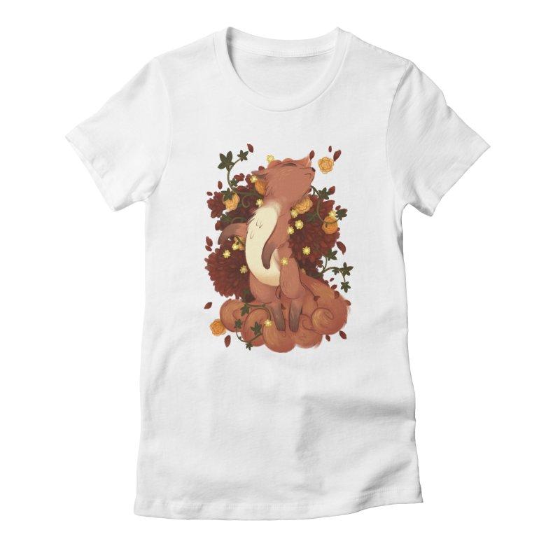 Vulpix Noir Women's Fitted T-Shirt by ImogenSartain's Artist Shop