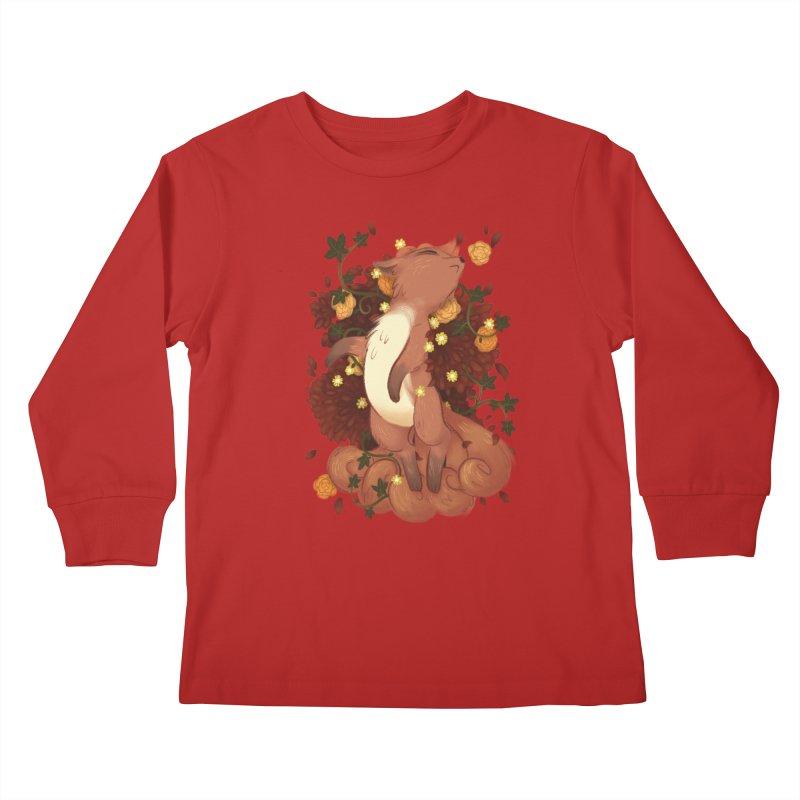 Vulpix Noir Kids Longsleeve T-Shirt by ImogenSartain's Artist Shop