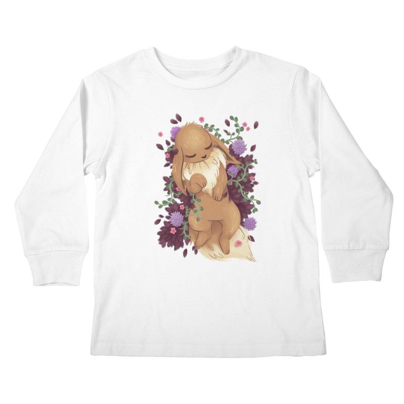 Eevee Noir Kids Longsleeve T-Shirt by ImogenSartain's Artist Shop