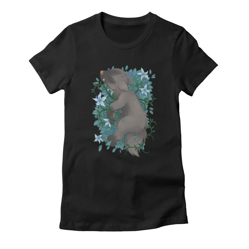 Poochyena Noir Women's Fitted T-Shirt by ImogenSartain's Artist Shop