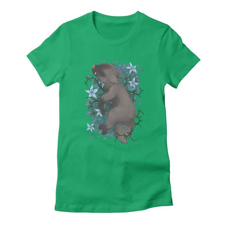 Poochyena Noir Women's Fitted T-Shirt by ImogenSartain's Artist Shop
