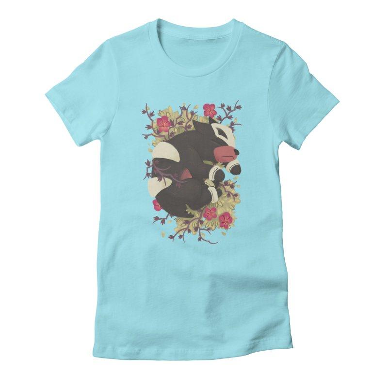 Houndour Noir Women's Fitted T-Shirt by ImogenSartain's Artist Shop