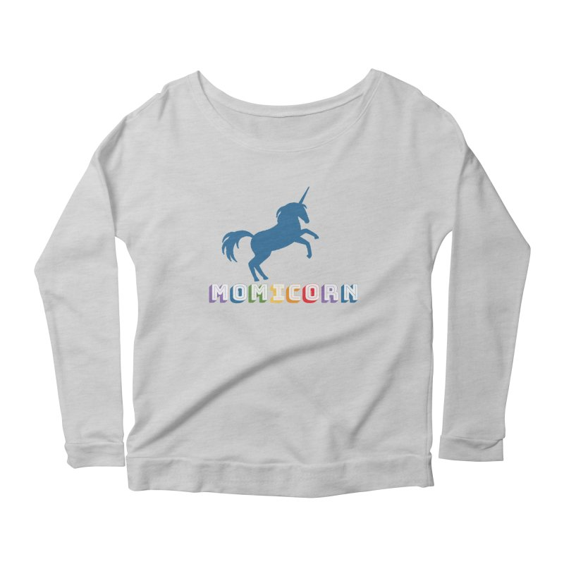 Momicorn Women's Scoop Neck Longsleeve T-Shirt by Improv Parenting Shop