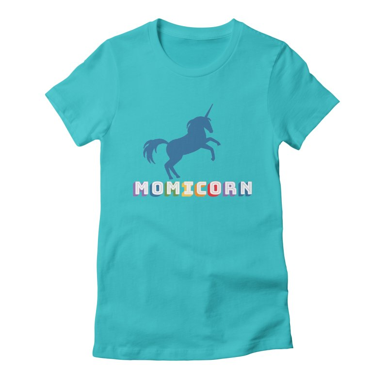 Momicorn Women's Fitted T-Shirt by Improv Parenting Shop