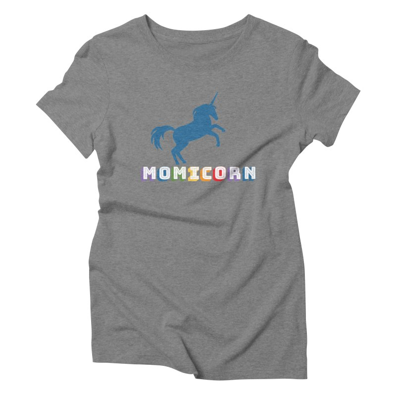 Momicorn Women's Triblend T-Shirt by Improv Parenting Shop