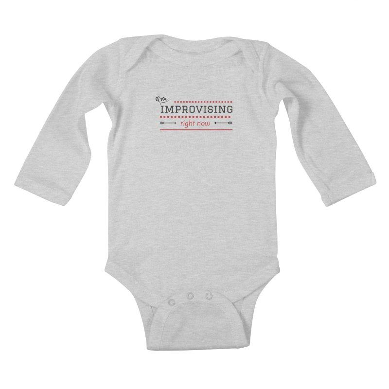 I'm Improvising Kids Baby Longsleeve Bodysuit by Improv Parenting Shop