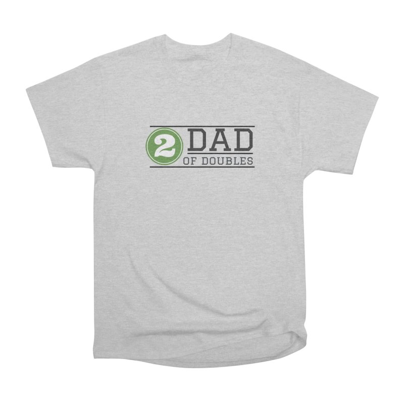 Dad of Doubles in Men's Heavyweight T-Shirt Heather Grey by Improv Parenting Shop