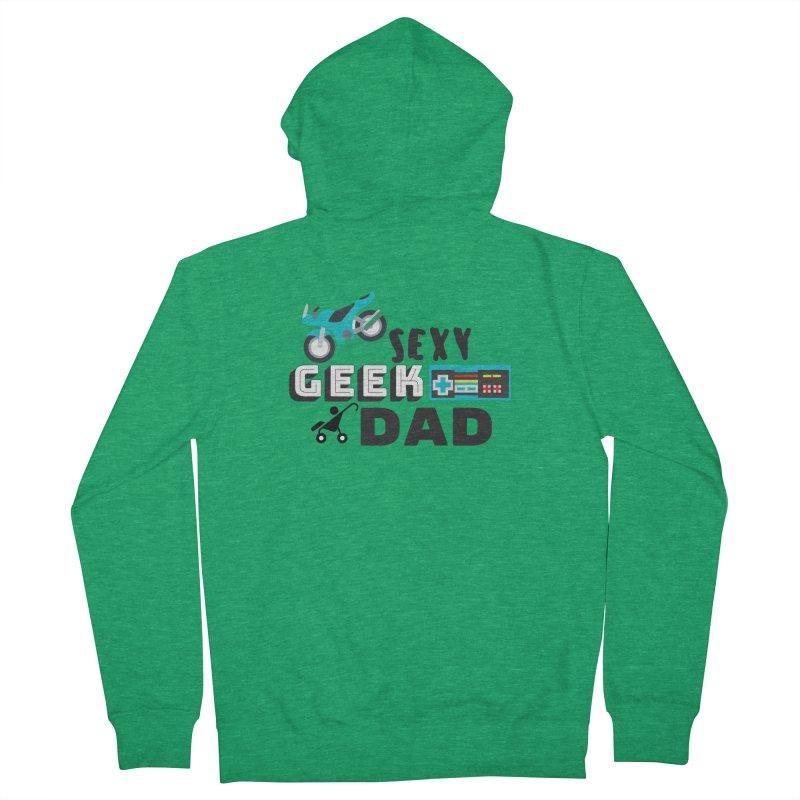 Sexy Geek Dad Men's Zip-Up Hoody by Improv Parenting Shop