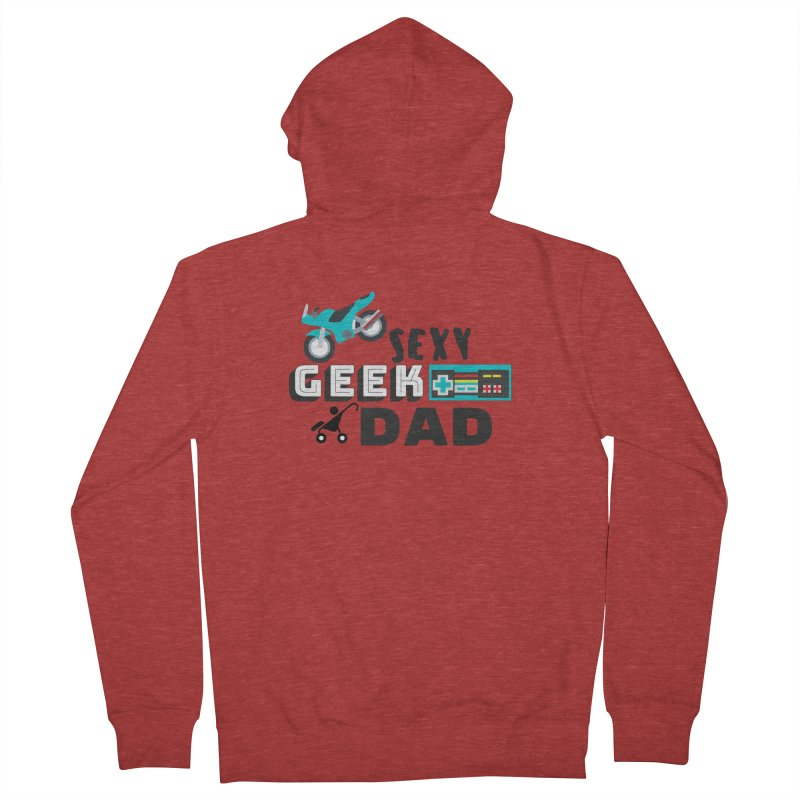 Sexy Geek Dad Men's French Terry Zip-Up Hoody by Improv Parenting Shop