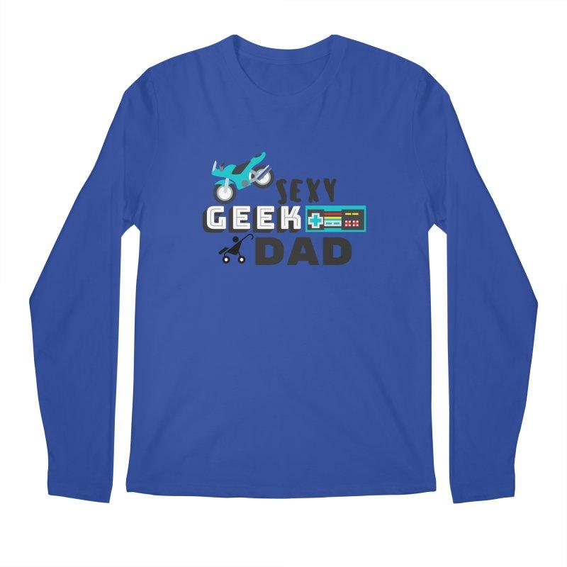 Sexy Geek Dad Men's Longsleeve T-Shirt by Improv Parenting Shop