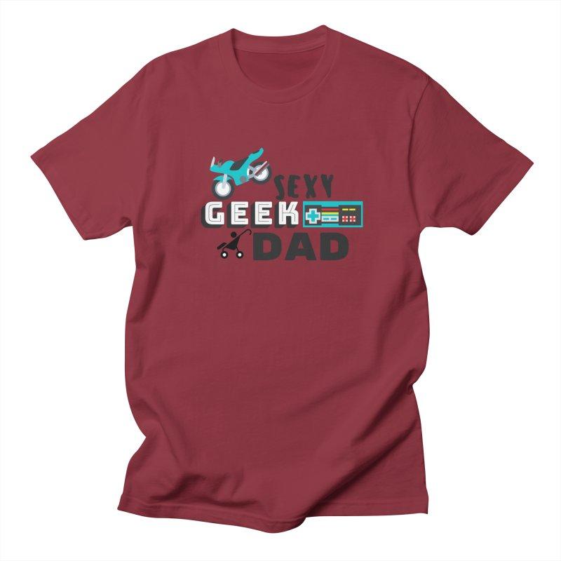 Sexy Geek Dad Men's Regular T-Shirt by Improv Parenting Shop