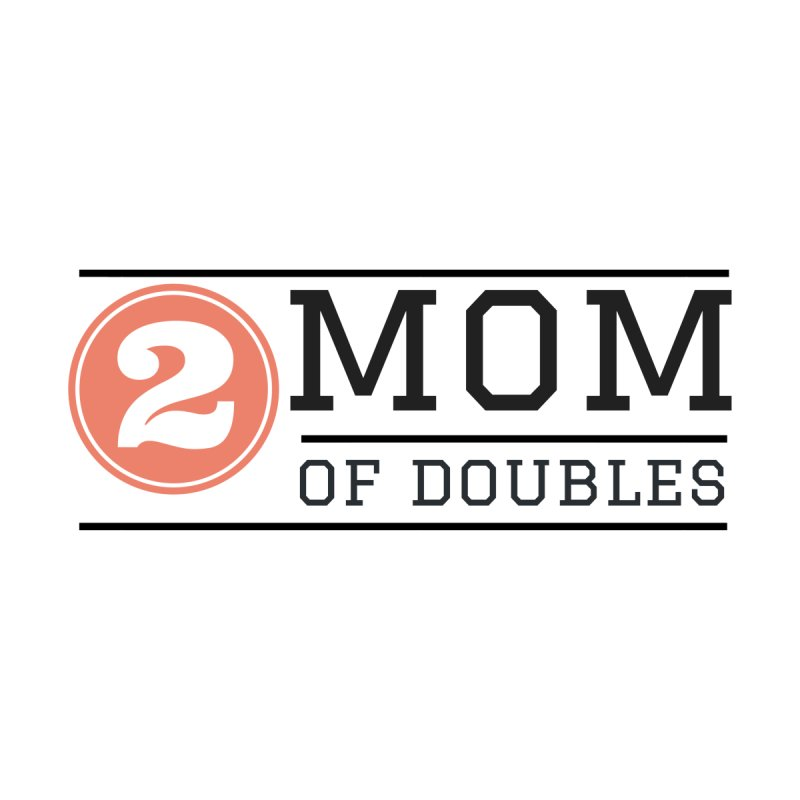 Mom of Doubles Women's V-Neck by Improv Parenting Shop