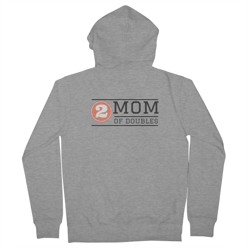 Mom of Doubles Women's Zip-Up Hoody by Improv Parenting Shop