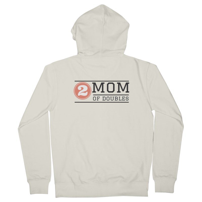 Mom of Doubles Women's French Terry Zip-Up Hoody by Improv Parenting Shop