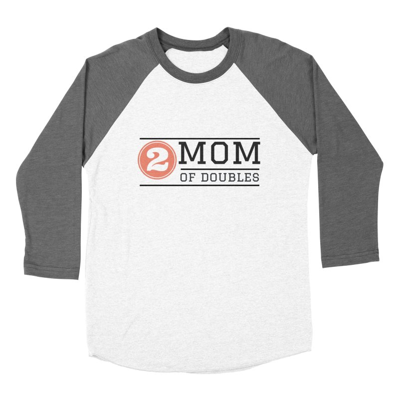 Mom of Doubles Women's Baseball Triblend Longsleeve T-Shirt by Improv Parenting Shop
