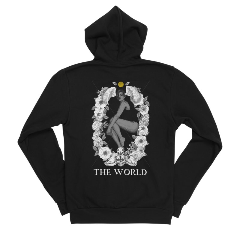 The World Men's Sponge Fleece Zip-Up Hoody by The Ink Maiden