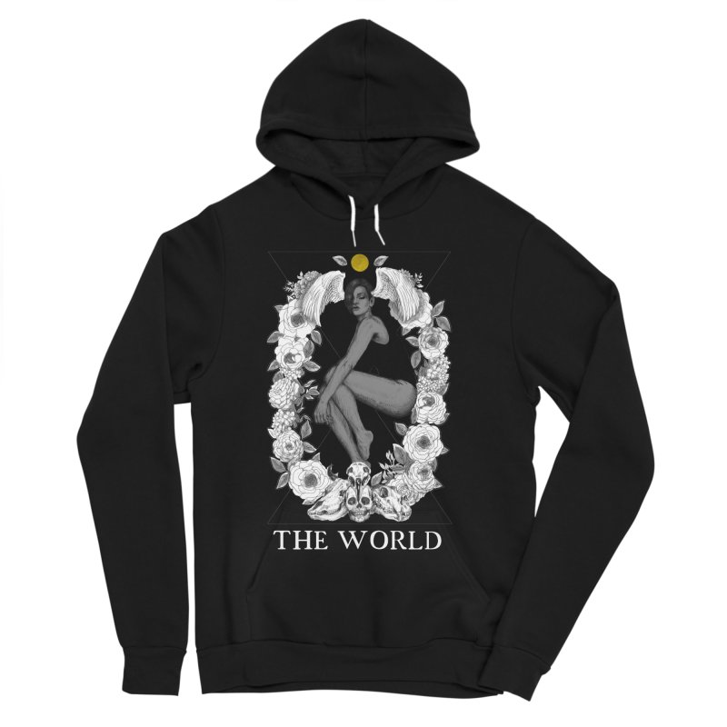 The World Women's Sponge Fleece Pullover Hoody by The Ink Maiden