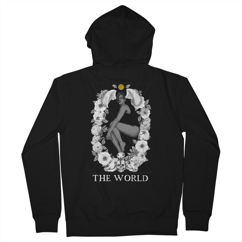 The World Women's French Terry Zip-Up Hoody by The Ink Maiden