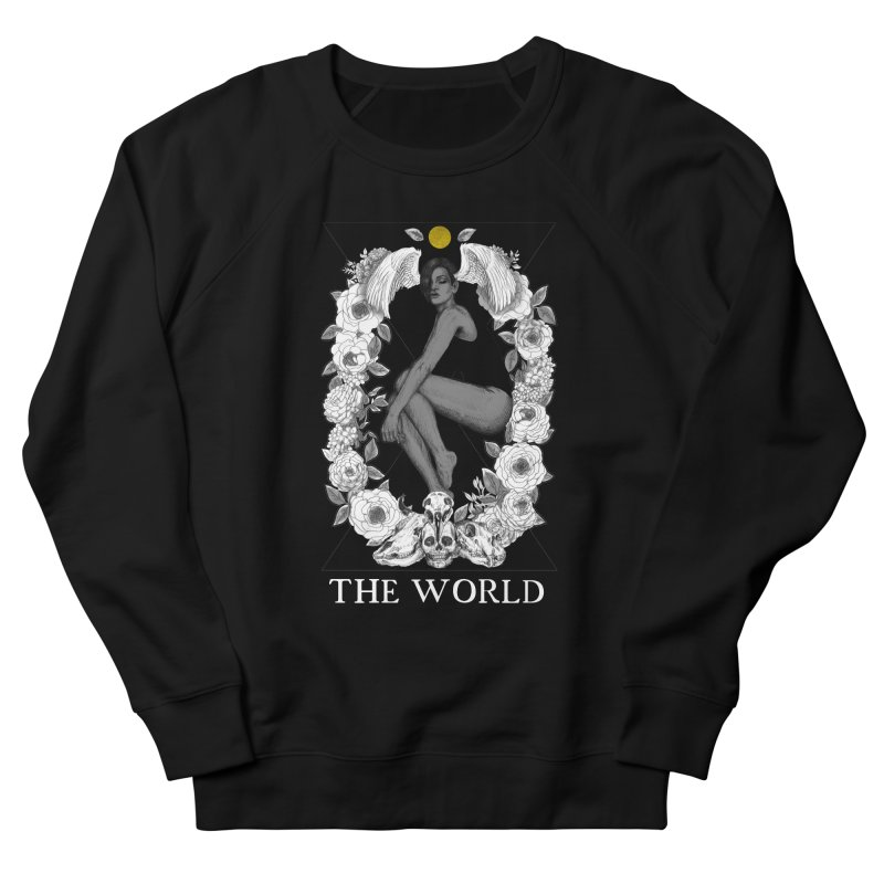 The World Men's French Terry Sweatshirt by The Ink Maiden