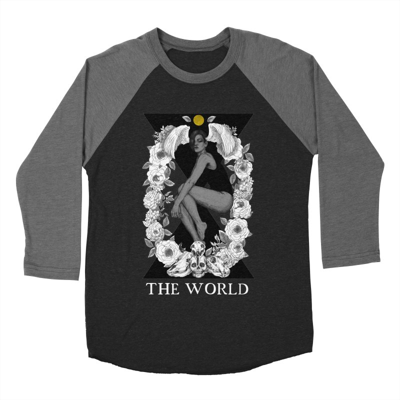 The World Men's Baseball Triblend Longsleeve T-Shirt by The Ink Maiden