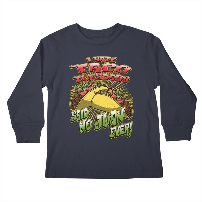 taco tuesday Kids Longsleeve T-Shirt by Inkdwell's Artist Shop