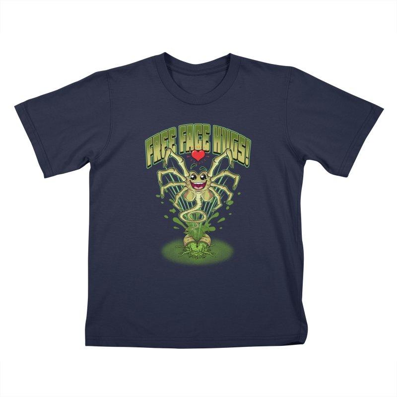 FREE FACE HUGS!    Kids T-Shirt by Inkdwell's Artist Shop