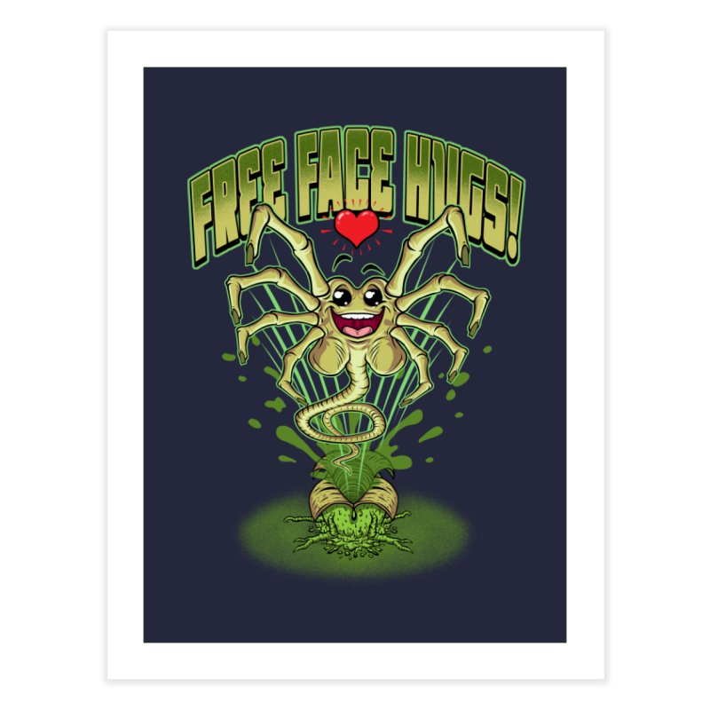 FREE FACE HUGS!    Home Fine Art Print by Inkdwell's Artist Shop