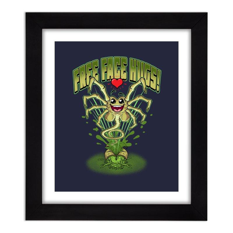 FREE FACE HUGS!    Home Framed Fine Art Print by Inkdwell's Artist Shop