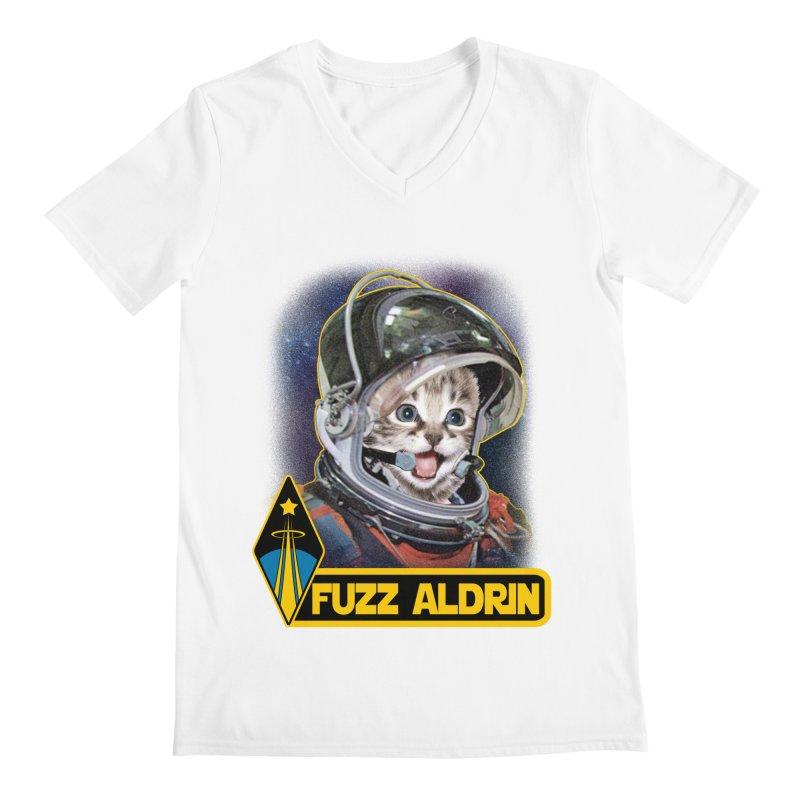 FUZZ ALDRIN Men's V-Neck by Inkdwell's Artist Shop