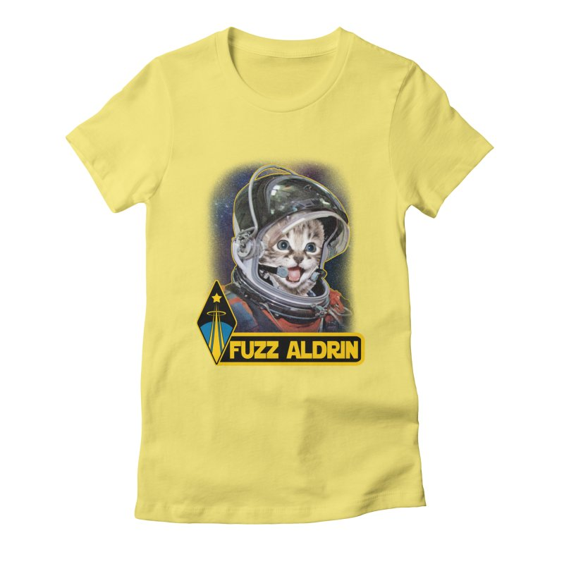 FUZZ ALDRIN Women's Fitted T-Shirt by Inkdwell's Artist Shop