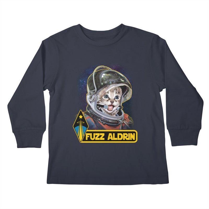 FUZZ ALDRIN Kids Longsleeve T-Shirt by Inkdwell's Artist Shop