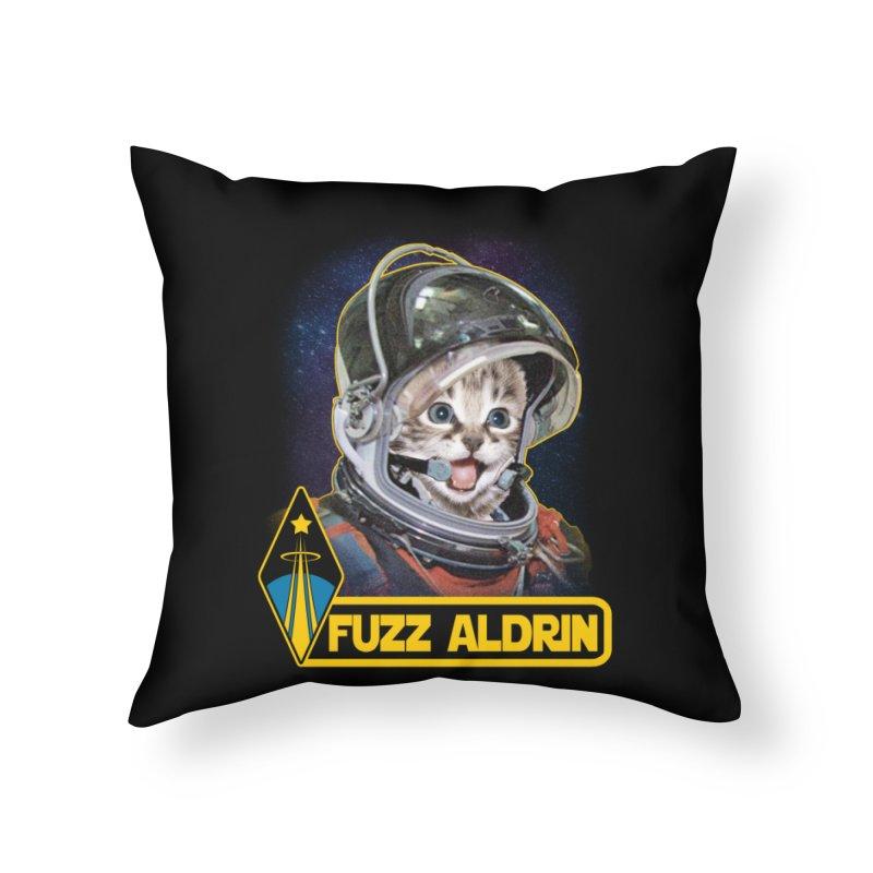 FUZZ ALDRIN Home Throw Pillow by Inkdwell's Artist Shop