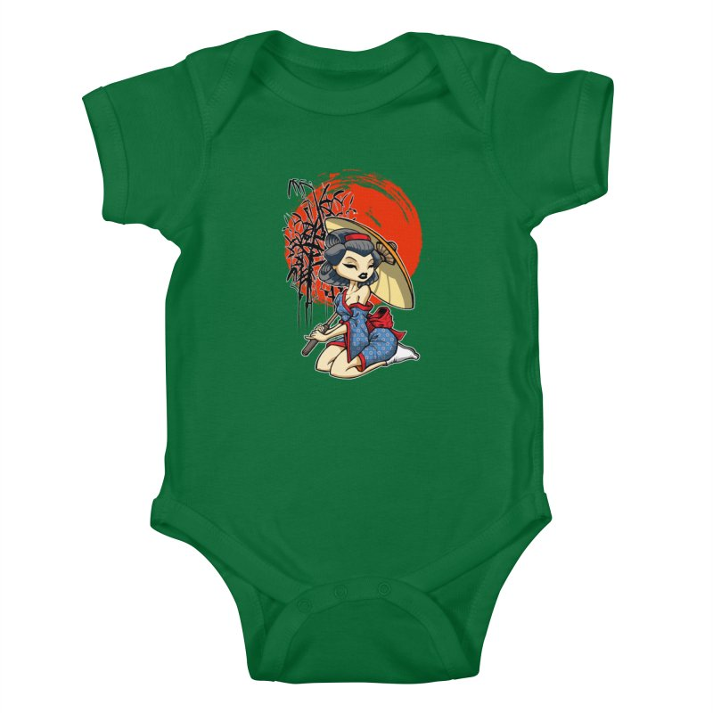 ASIAN GIRL Kids Baby Bodysuit by Inkdwell's Artist Shop