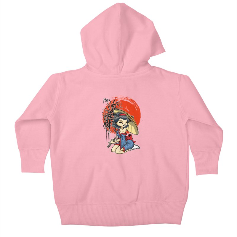 ASIAN GIRL Kids Baby Zip-Up Hoody by Inkdwell's Artist Shop