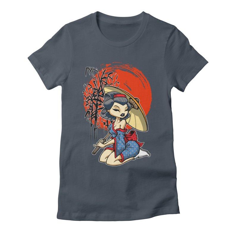 ASIAN GIRL Women's T-Shirt by Inkdwell's Artist Shop