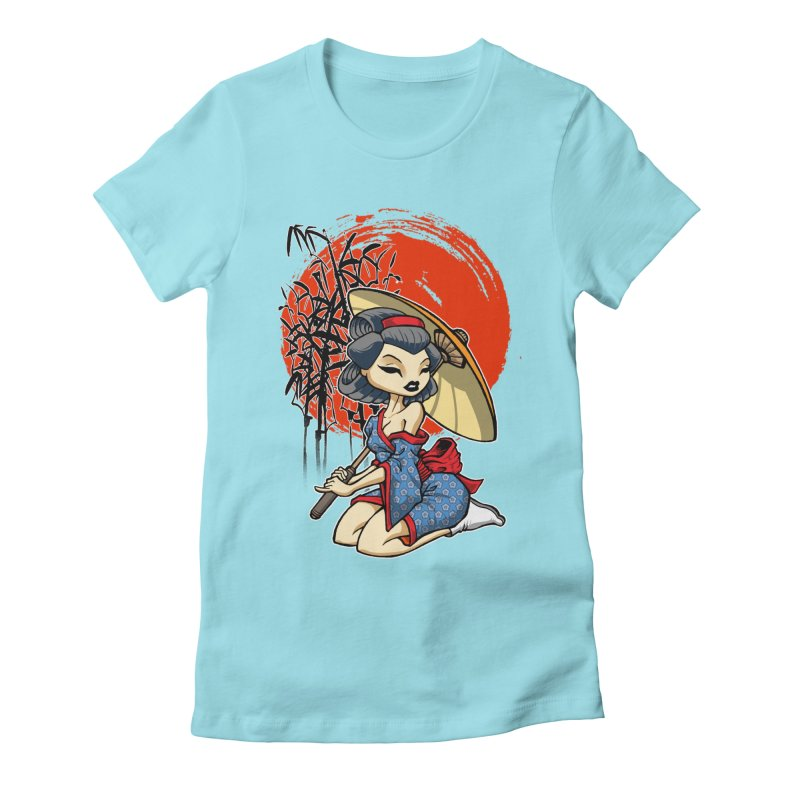ASIAN GIRL Women's Fitted T-Shirt by Inkdwell's Artist Shop