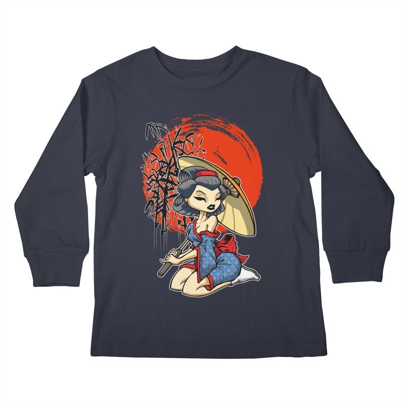 ASIAN GIRL Kids Longsleeve T-Shirt by Inkdwell's Artist Shop
