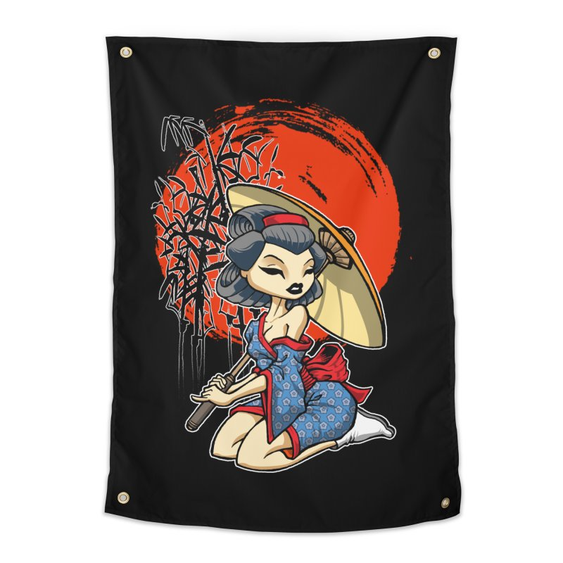 ASIAN GIRL Home Tapestry by Inkdwell's Artist Shop