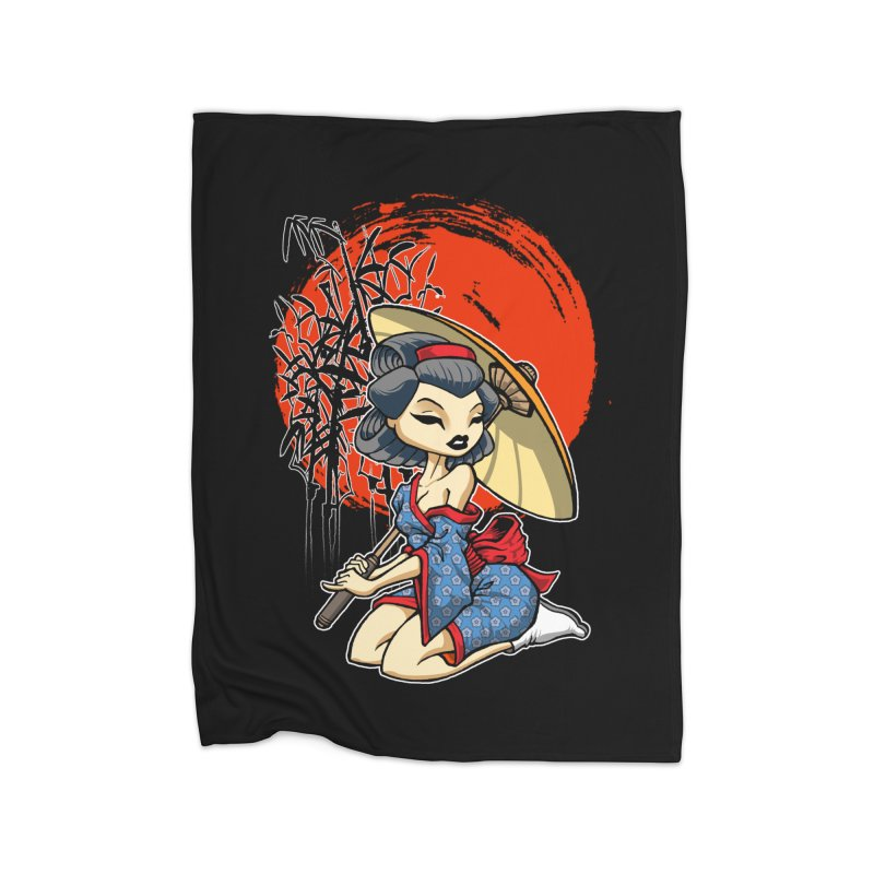 ASIAN GIRL Home Blanket by Inkdwell's Artist Shop