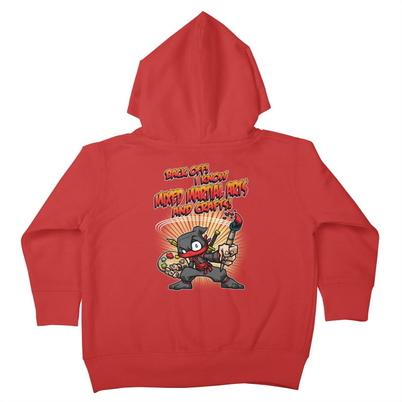 ARTS AND CRAFTS! Kids Toddler Zip-Up Hoody by Inkdwell's Artist Shop
