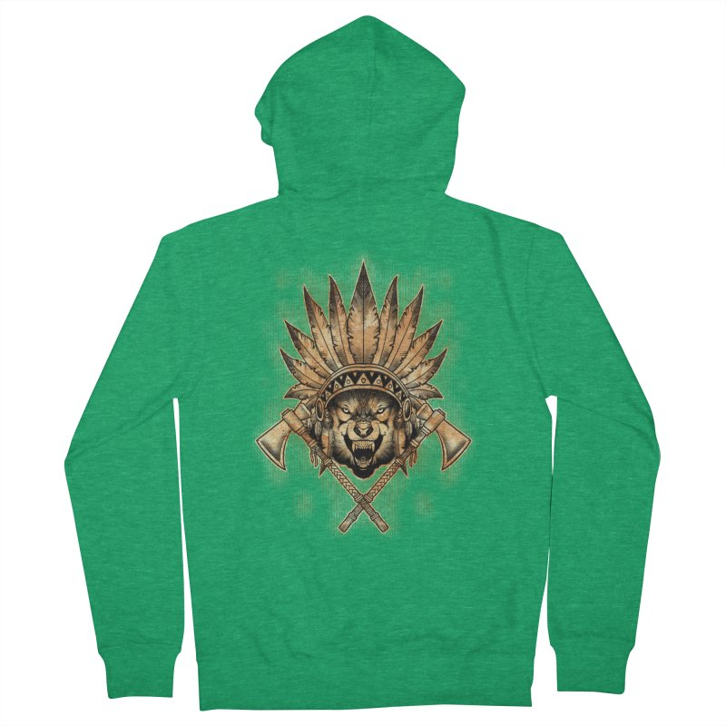 CHIEF WOLF Women's Zip-Up Hoody by Inkdwell's Artist Shop