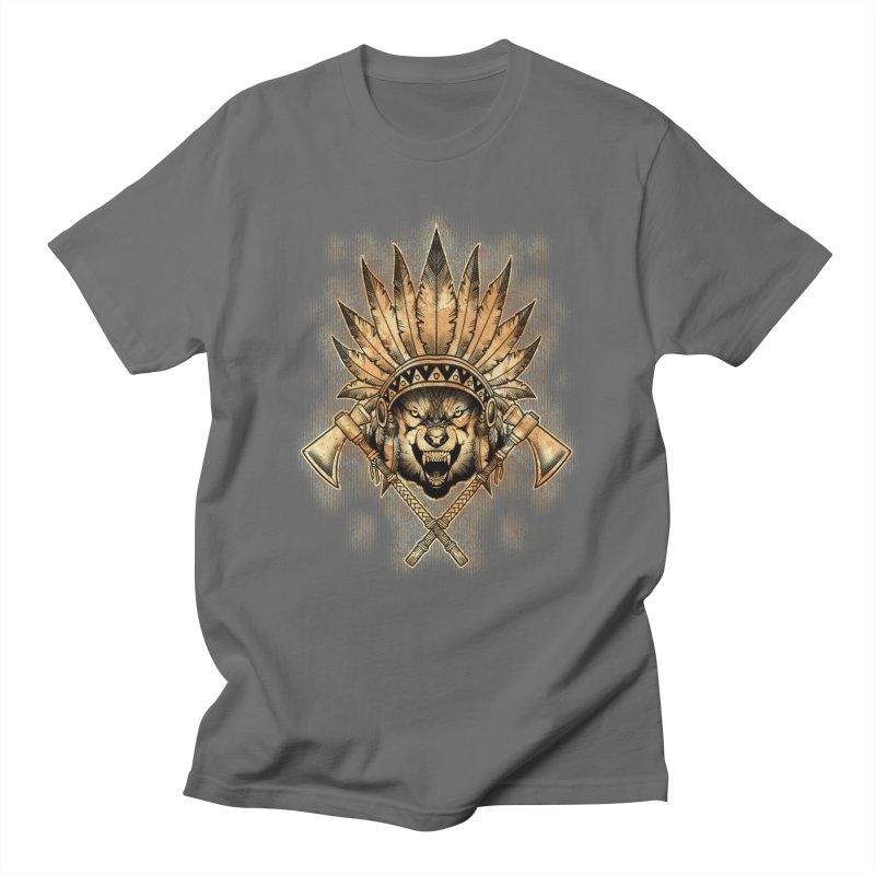 CHIEF WOLF Men's T-Shirt by Inkdwell's Artist Shop