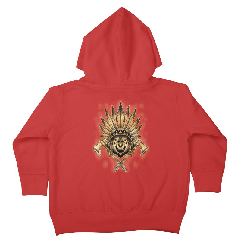 CHIEF WOLF Kids Toddler Zip-Up Hoody by Inkdwell's Artist Shop