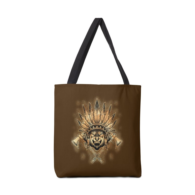 CHIEF WOLF Accessories Bag by Inkdwell's Artist Shop