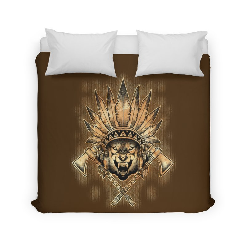CHIEF WOLF Home Duvet by Inkdwell's Artist Shop
